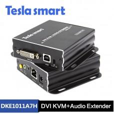 Tesla 100M HDBaseT DVI KVM + Audio Extender