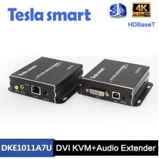 Tesla 100M HDBaseT DVI KVM + Audio UHD Extender (UHD Ses Genişletici)