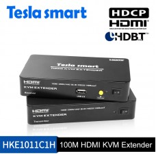 Tesla 100M HDMI KVM Extender w/IR and audio out