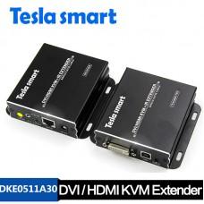 Tesla 50M DVI / HDMI KVM + IR Extender