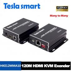 Tesla 120M HDMI KVM Many to Many Over IP Extender w/ IR