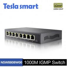 Tesla 1000M IGMP 8 Port Network  Ethernet Switch